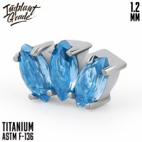 Накрутка Marquise Blue Implant Grade 1.2 мм титан
