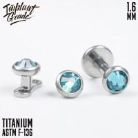 Накрутка Blue Zircon Implant Grade 1.6 мм титан